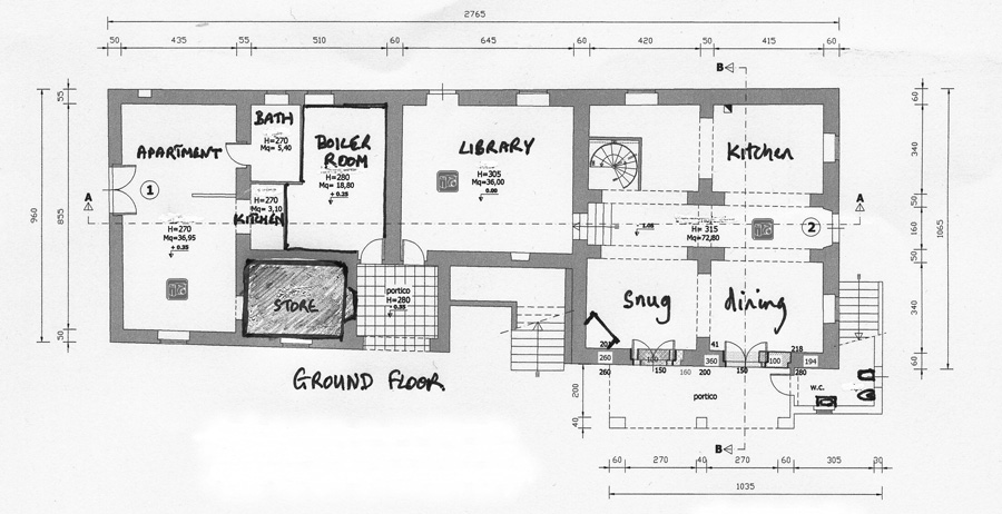 Marvelous Main House Ground Plan Grd  Copy