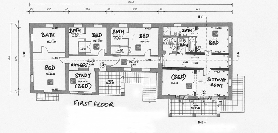 Il casale ground plan for Rental property floor plans